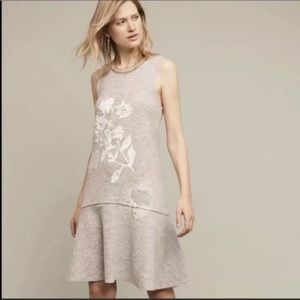 Anthropologie knitted and knotted wool dress NWT S